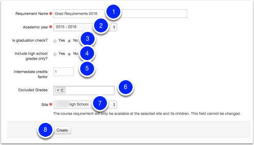 Creating a new Course Requirement