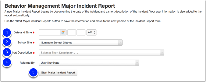 create the major incident report