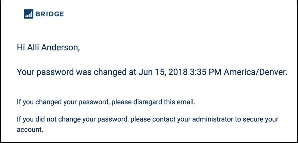 Afficher la notification de mot de passe initial
