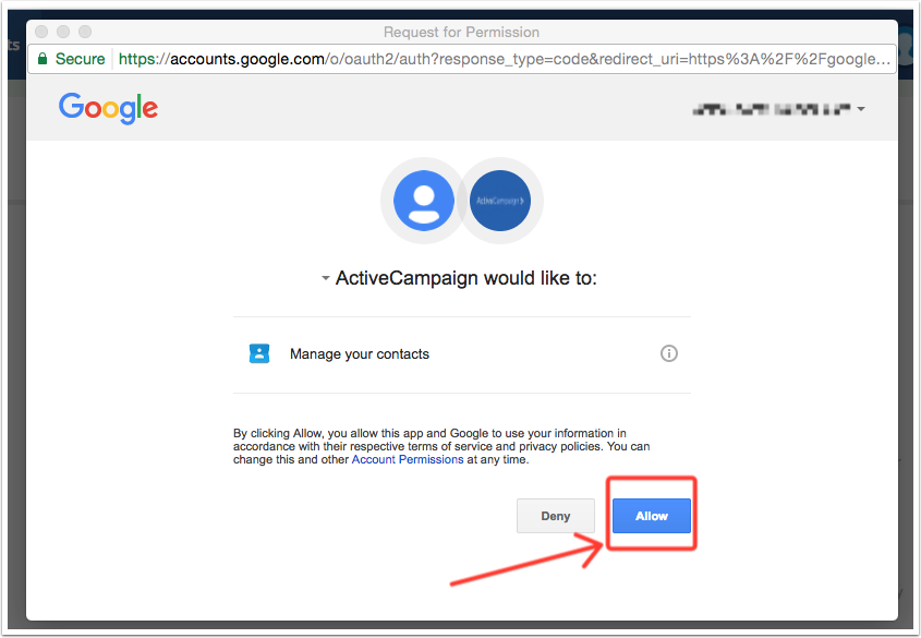 Google Contacts integration – ActiveCampaign Help Center