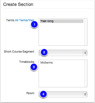 Create a Section
