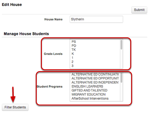 Add Students to House