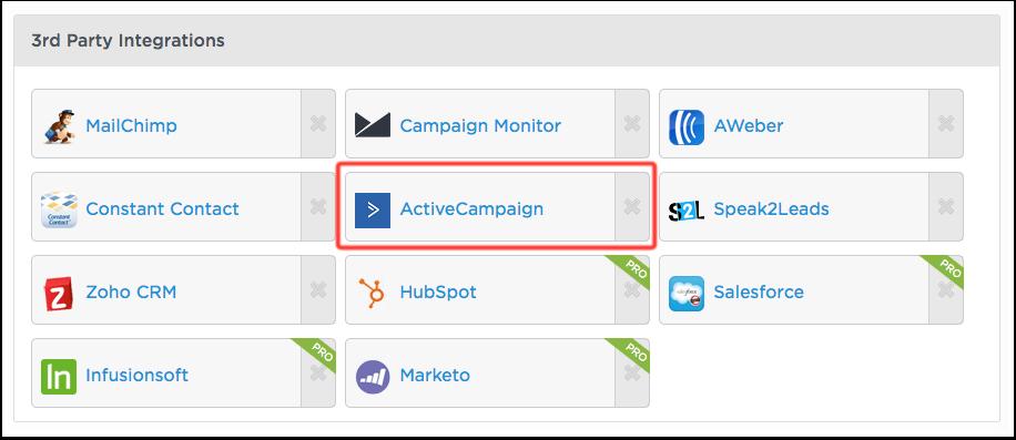 Unbounce integration – ActiveCampaign Help Center