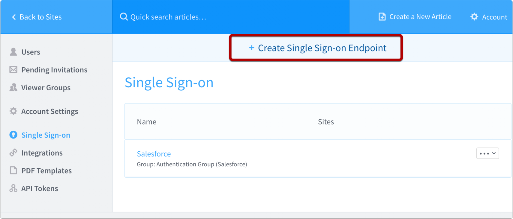 Go to Salesforce integrations page