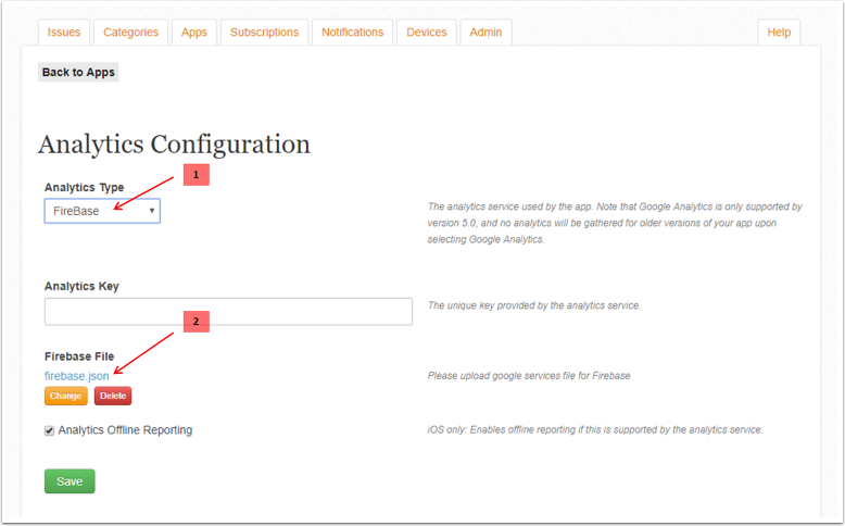 Google Analytics for Firebase – Mag+ Designd Support