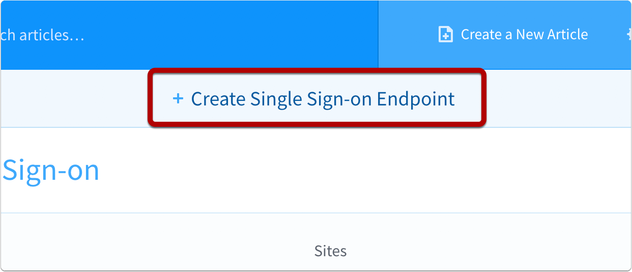 Create Single Sign-on endpoint