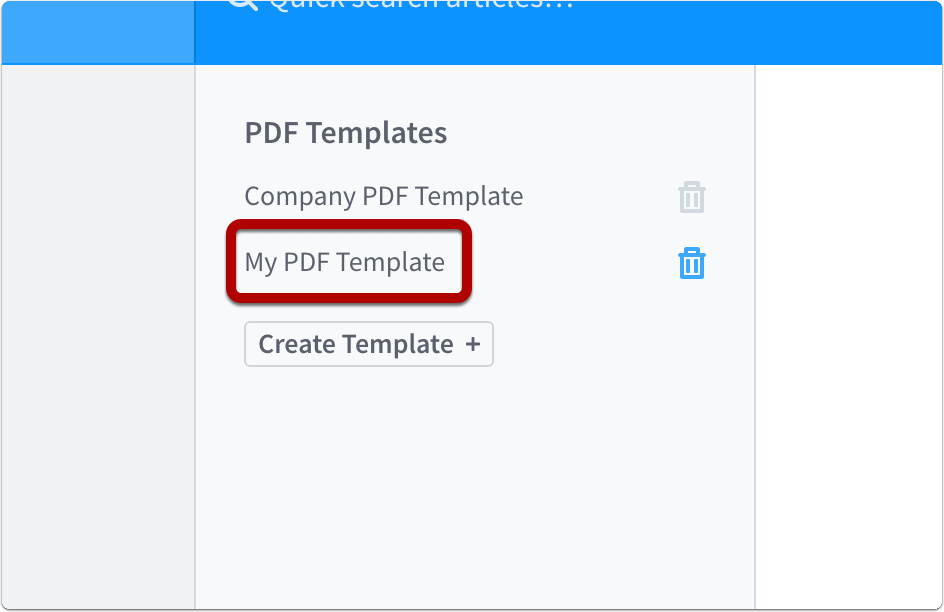 how do i create a pdf template creating pdfs of your content