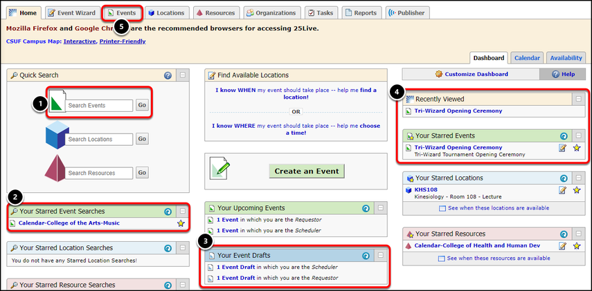 Publishing An Event To A Campus Calendar 25live Peoplesoft Cms