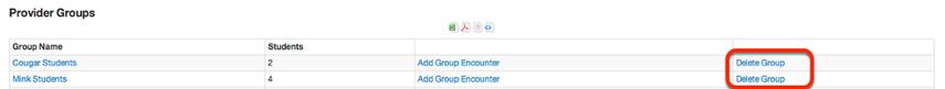 Delete Provider Group(s)