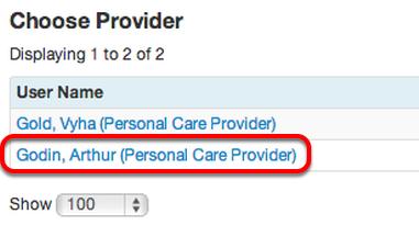 Choose a Provider