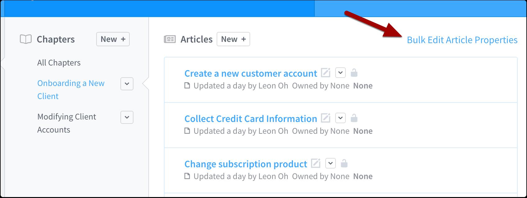 Bulk edit article properties