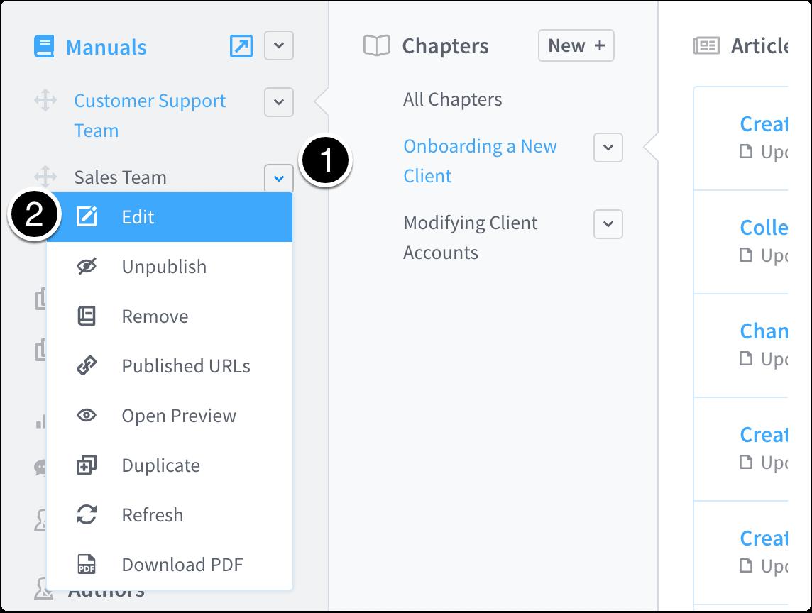 Edit manual properties