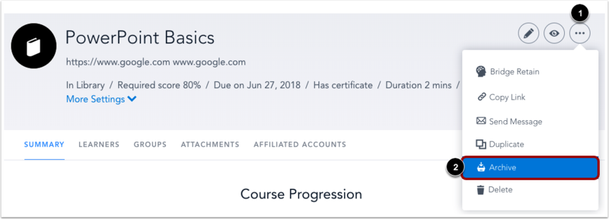Archive Course