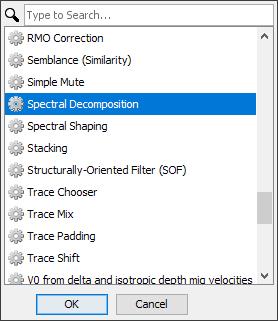 Create spectral decomposition process