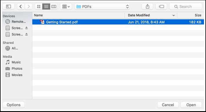 Browse & Choose File