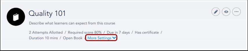 Edit Course Details