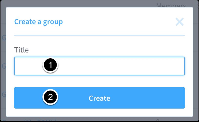 Enter a Group Name