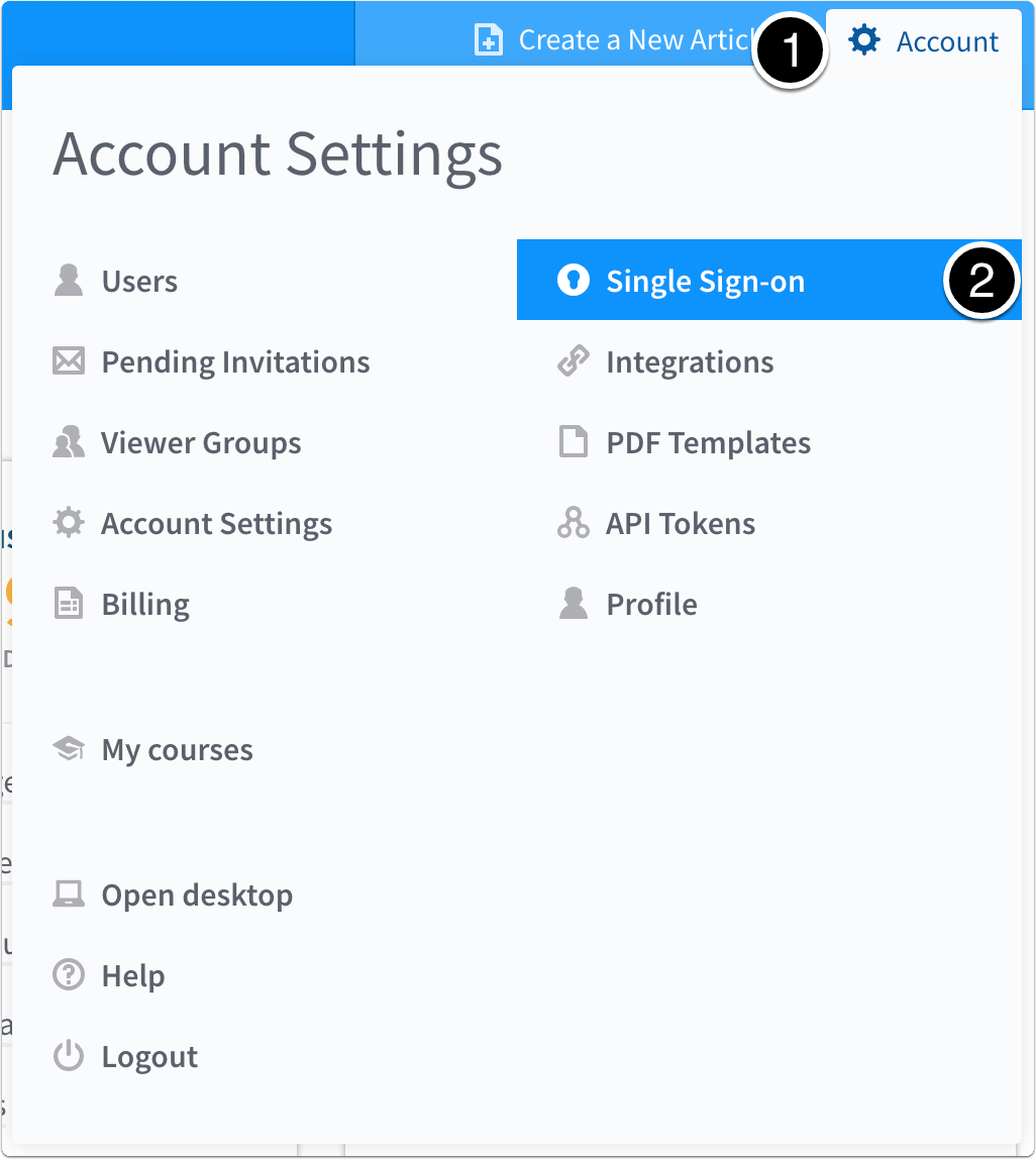 delete a single sign on integration administering your account