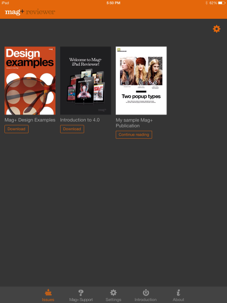 Download the Mag+ Reviewer app and connect it to your Mag+ Production Tool and InDesign Plug-in.