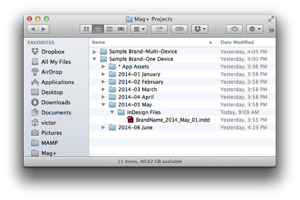 Set-up your Issue folder.
