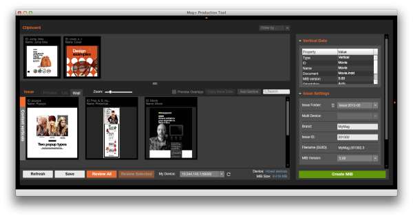Set-up the Mag+ Production Tool.