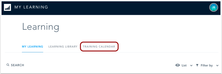 Open Training Calendar