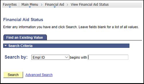 Financial Aid Status