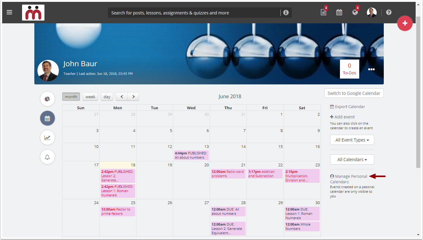 Creating and Managing Calendars and Calendar Events – Teamie Help Center