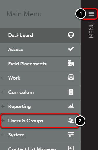 Step 1: Access Users Screen