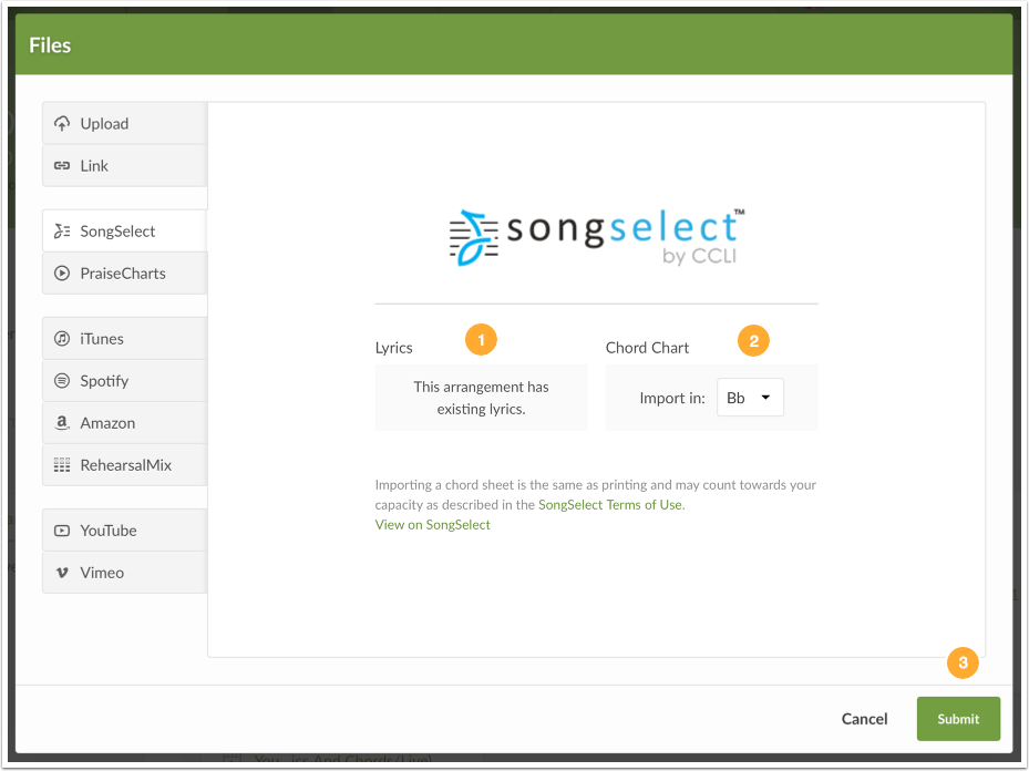 Songselect By Ccli Integration Services
