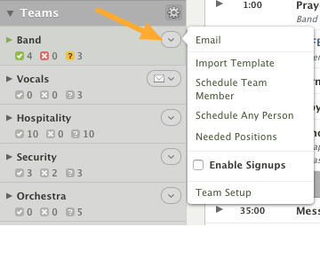 Edit your Teams & Positions