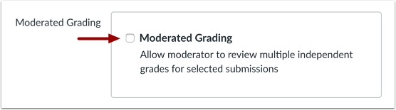 Select Moderated Grading