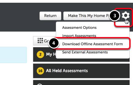 Step 2: Download Offline Assessment Form
