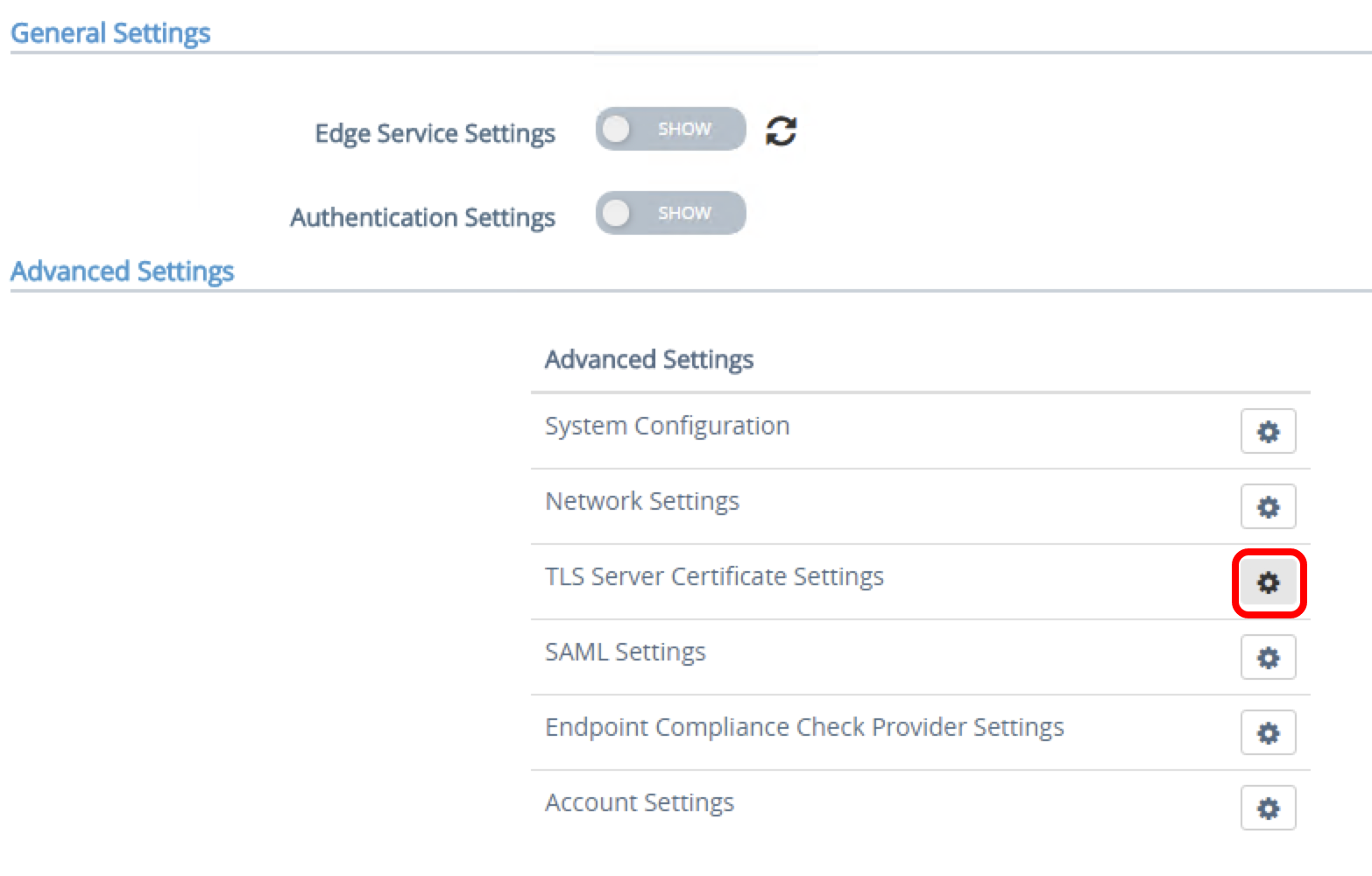 Configuring TLS/SSL Certificates for Unified Access Gateway Appliances