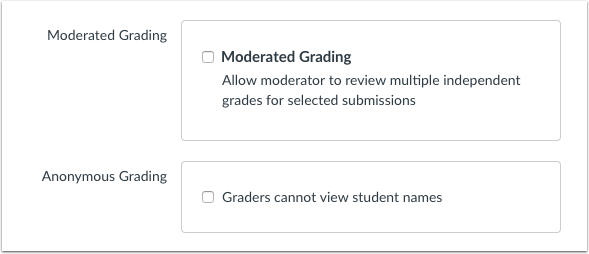 Allow Moderated Grading