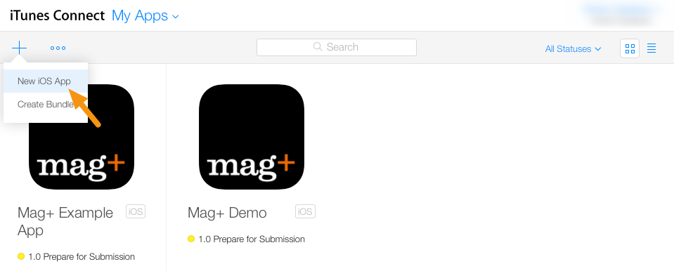 iOS - Adding a New App in AppStore Connect – Mag+ Designd