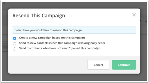 how can i resend my campaign activecampaign help center