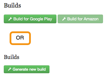 "Press the ""Build"" button to build your app."