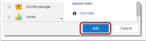 Add button is selected.