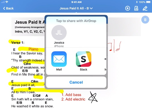 Share the PDF to another app on the device