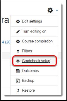 Select Gradebook setup.