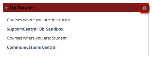 """Click on the Gear Icon in the Top-Left Corner of """"My Courses"""""""