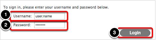 Login using your OC credentials