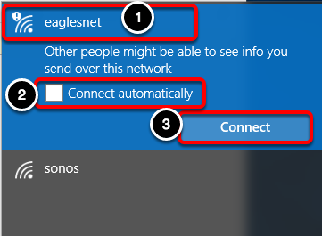Connect to eaglesnet