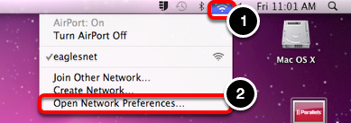 Open Network Preferences