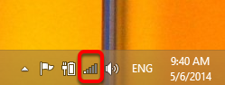 Click on the Network Icon in the Bottom-Right Corner of the Desktop