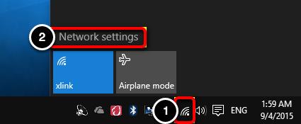 Open Network Settings