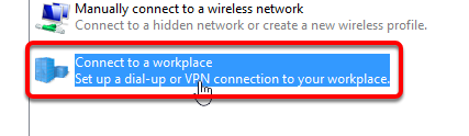 Connect to a Workplace