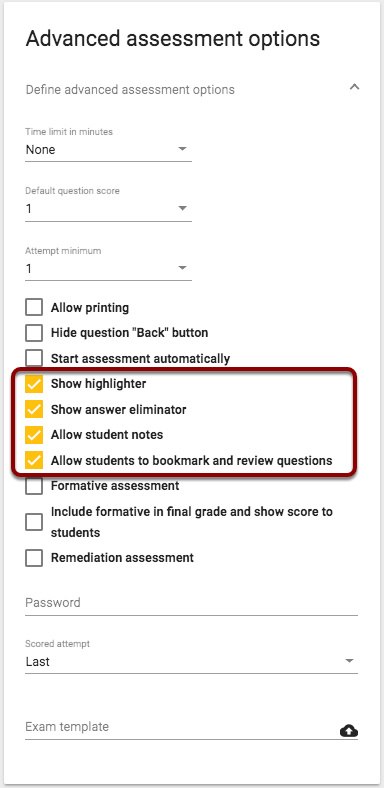 how can students use assessment tools echo help center