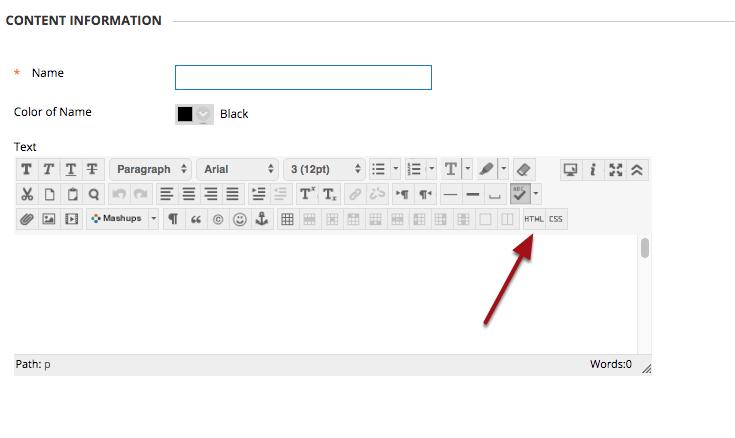 Click the HTML Button